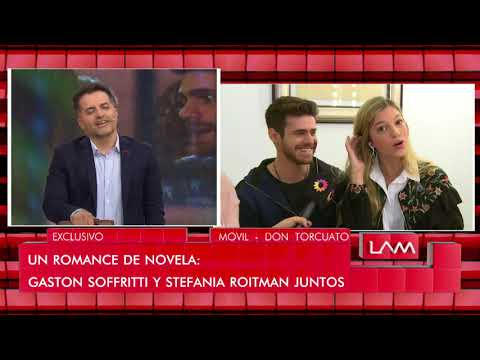 Un romance de novela: Gastón Soffritti y Stefania Roitman juntos