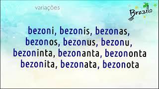 BEZONI verbo em Esperanto