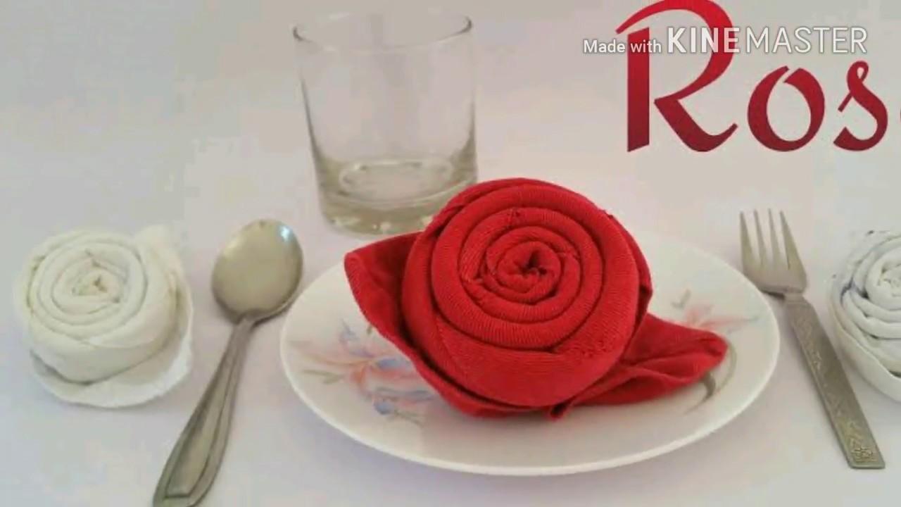 Napkin Folding Rose Video