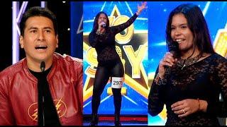 """Imitadora de Gloria Trevi cantó """"Todos me miran"""" e impactó a parte del jurado"""