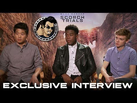 Thomas Brodie Sangster,  Ki Hong Lee & Dexter Darden Interview - Maze Runner: The Scorch Trials (HD)