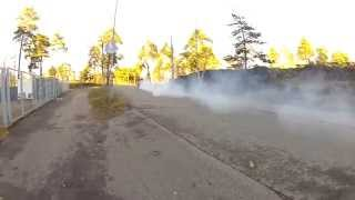 Kannon 502cid V8 engine motorcycle power Burnout