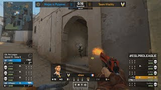 SHOX 400IQ!! - Vitality vs NiP - ESL Pro League S10 - CS:GO