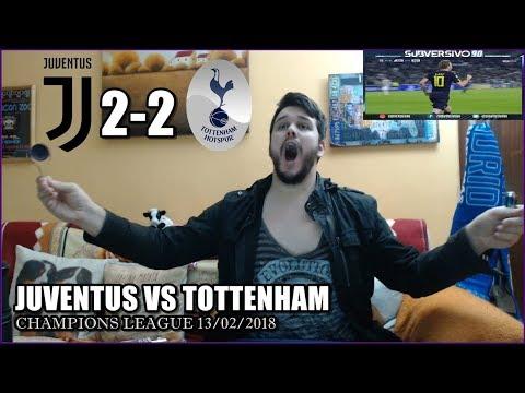 JUVENTUS VS TOTTENHAM 2-2 REACCIONES | HIGHLIGHTS | CHAMPIONS LEAGUE  13/02/2018