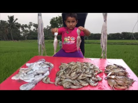 Cooking Sea Food Gumbo For Our Village – Trying to Cook SeaFood Gumbo with Octopus, Prawns and Crabs