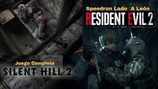 Silent Hill 2 (completo) y Resident 2 Remake - Speedrun Any% león A - Gameplay En Español