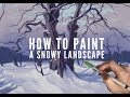 Procreate painting tutorial - HOW TO PAINT A SNOWY LANDSCAPE - on an iPad Pro with Apple Pencil