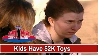 Mom Refuses To Play With Kids Because They Have $2K of Toys Already | Supernanny