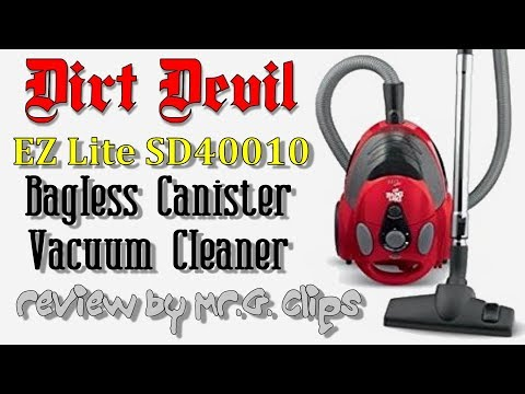 Dirt Devil EZ Lite Bagless Canister Vacuum Review.