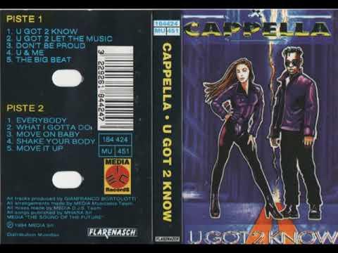 CAPELLA - U GOT 2 KNOW - ALBUM - 1994 CASSETTE RIP