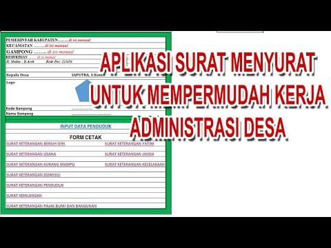 Aplikasi Surat Menyurat untuk memudahkan Administrasi Di Desa