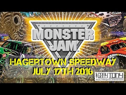 Monster Jam 2016 - Hagerstown Speedway July 17th