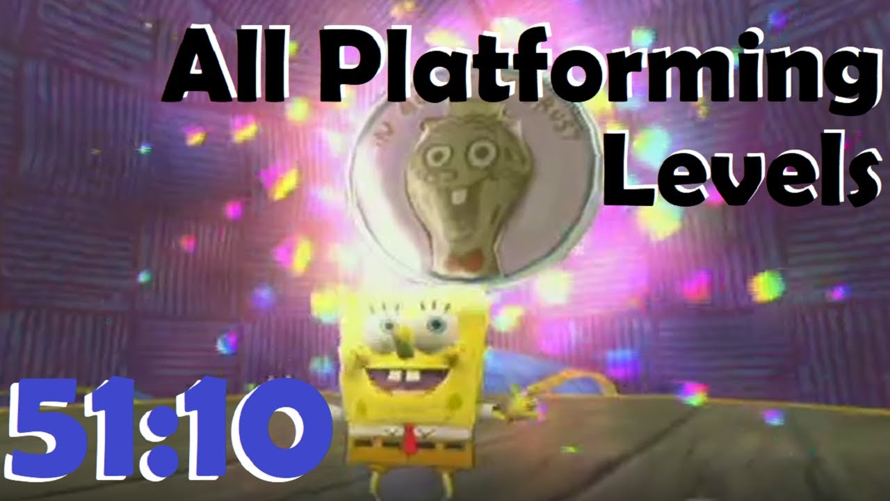 (51:10) The SpongeBob SquarePants Movie All Platforming Levels Speedrun