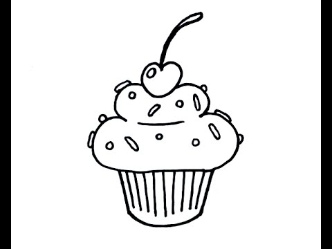 how to draw a simple cartoon cupcake beginner youtube rh youtube com how to draw a cute cartoon cupcake how to draw a cartoon cupcake youtube