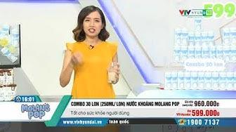 [VTV-HYUNDAI] 30 lon nước khoáng Molang Pop (250ml/ 1 lon) VH05215