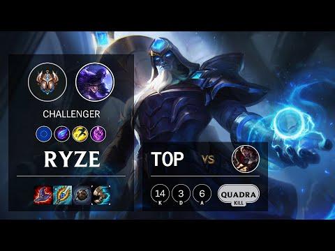 Ryze Top vs Darius - EUNE Challenger Patch 10.18