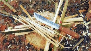 Bushcraft One Stick Fire With Old Hickory Knife