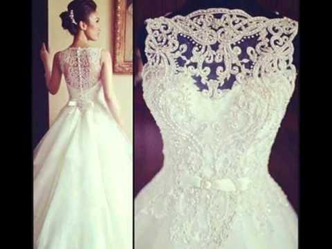 Фото идеи для свадебных платьев со спины