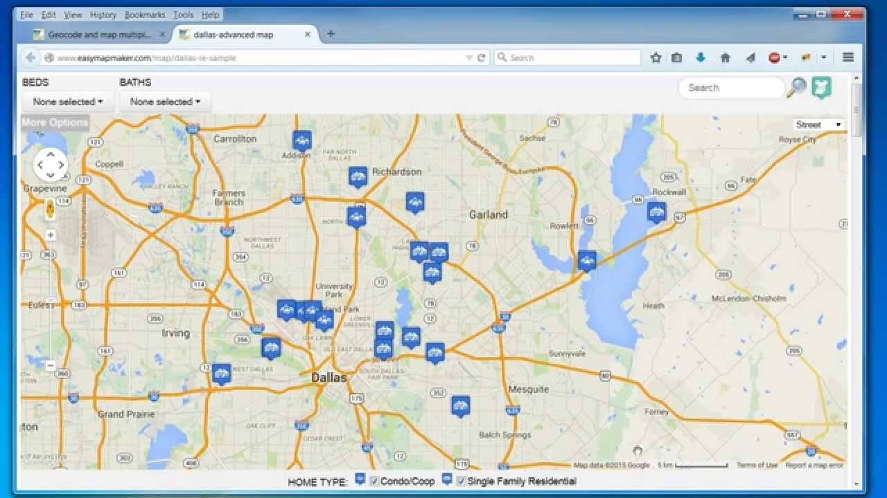 Excel Zip Code Map.Create A Map Easily Map Multiple Locations From Excel Data
