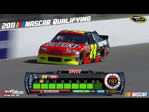 2011 NASCAR Qualifying Laps (Part 1)