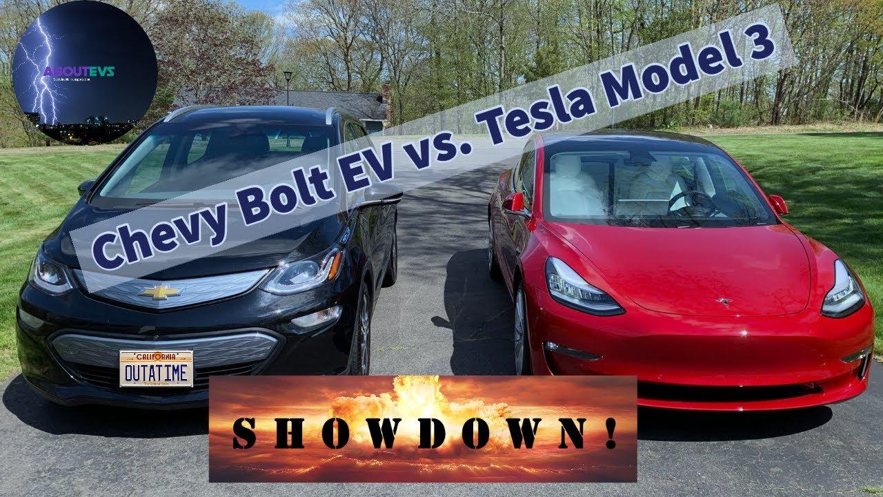 Chevy Bolt vs Tesla Model 3 - YouTube