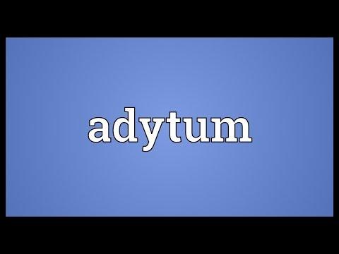 Header of adytum