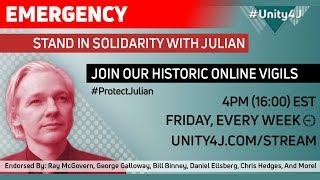 #Unity4J 26.0 Online Vigil in support of Julian Assange and WikiLeaks