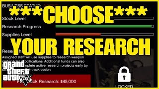 ***CHOOSE YOUR RESEARCH*** GTA ONLINE (GUNRUNNING)