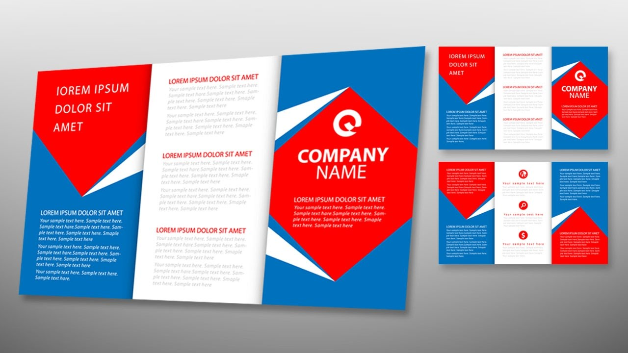 Illustrator tutorial tri fold brochure design template for Typography brochure design