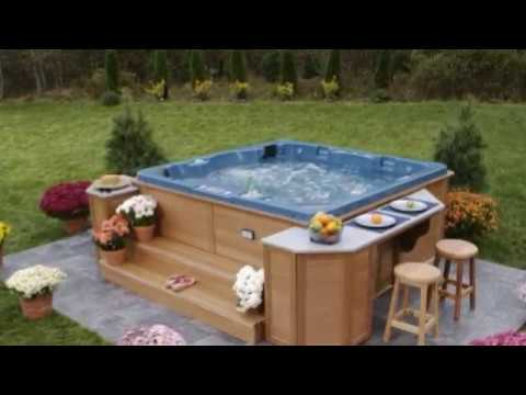 backyard hot tub ideas for installation and landscaping