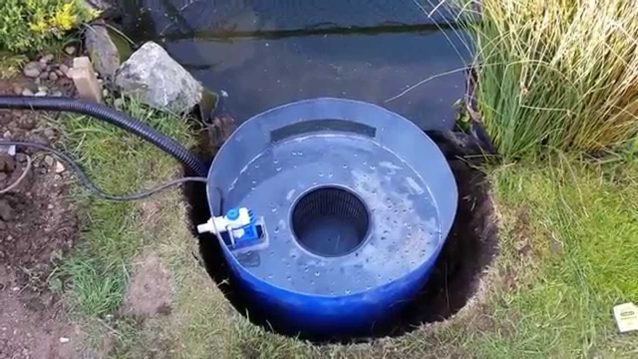 Diy pond skimmer and auto top up youtube for Diy pond filter bucket