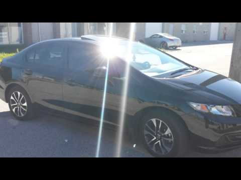 2013 Civic Si Spoiler On Ex Youtube