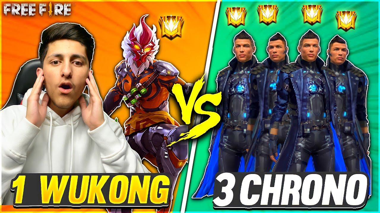 Grandmaster Chrono Call Wukong Noob?आजा 1 vs 3 में !! ?  घमंडी Chrono - Garena Free Fire