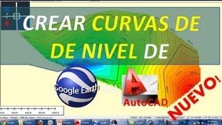 Crear Curvas de nivel de Google Earth en AutoCAD (Nuevo Método)