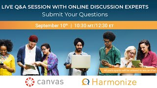 Live Q&A Session with Online Discussion Experts