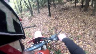 1987 Honda XR250R riding without the baffle