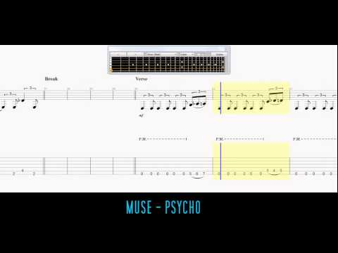 Muse - Psycho Guitar Tabs