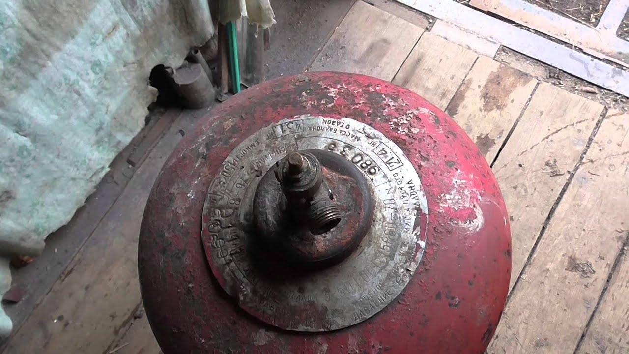 ремонт вентиля на баллоне высокого давления - YouTube