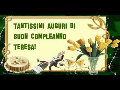 Happy Birthday Teresa! Buon Compleanno Teresa!   YouTube