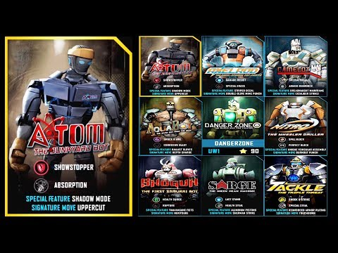 Real Steel WRB ATOM VS AZTEC DAWN (ATOM,Aquabot,TACKLE,NITRO,SARGE,Shogun,Axelrod)