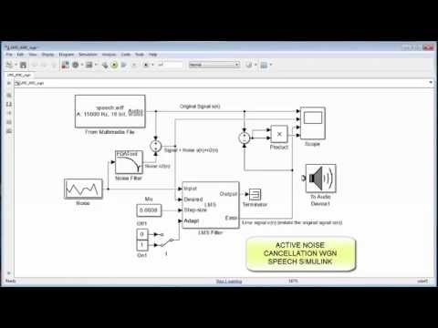 active noise control simulink model for white gaussian noise youtube. Black Bedroom Furniture Sets. Home Design Ideas