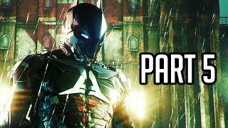 Batman Arkham Knight Walkthrough Gameplay Part 5 - Helicopter Boss Battle (PS4/XB1/PC 1080p HD)