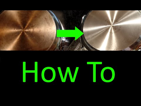 How to Clean Grease stains from pots Using Sodium Hydroxide