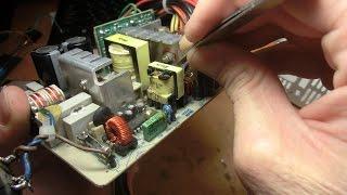 Ремонт блока питания после включения кнопки 110 вольт в сеть 220