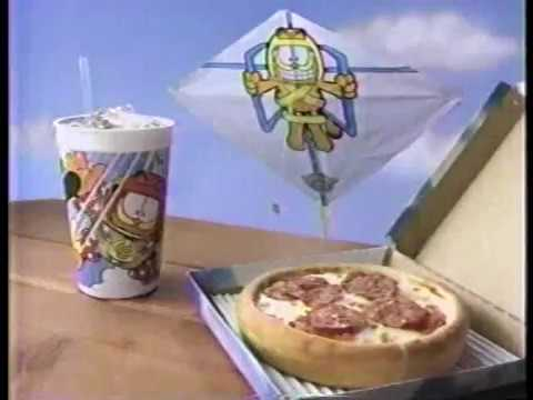 Pizza Hut Air Garfield Pizza Pack (Better Quality) 90s Commercial (1993)