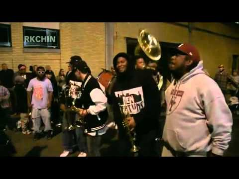 HONK! 2015 -- New Creations Brass Band @ Chester Street in Somerville, MA