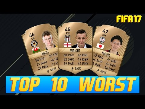 FIFA 17 Ultimate Team - TOP 10 WORST RATED PLAYERS !! || With IN-GAME FACES ||