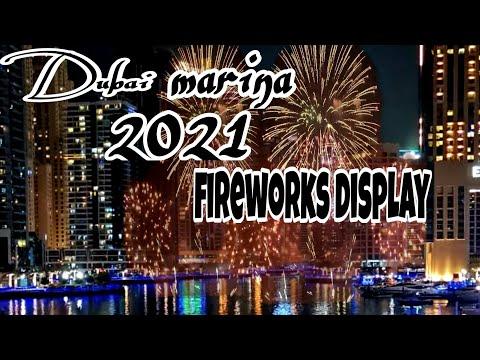 New year firework in dubai marina 2021