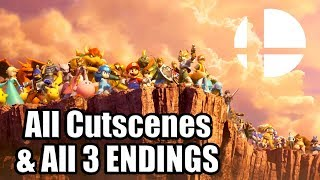 SUPER SMASH BROS ULTIMATE Full Movie | All Cutscenes & All 3 Endings