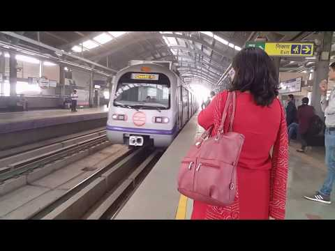 Delhi Metro Train - Complete Ride